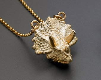 Triceratops Head Necklace