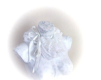White knitting scarf - All Seasons-Bridal accessories spring fashion-frill frizzy scarflette