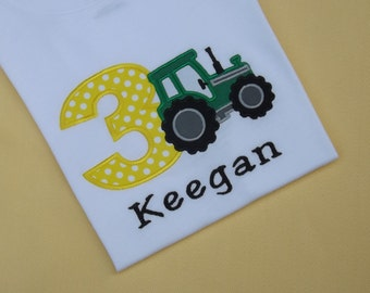 Tractor Birthday T-Shirt or Bodysuit