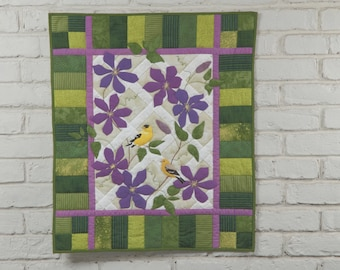 """Goldfinch Wall Quilt """"American Goldfinches"""" Kit"""