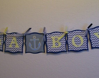 It's a Boy Whale Banner - Nautical It's a Boy Banner - It's a Boy Baby Shower Banner