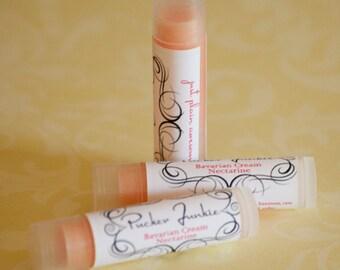 Pucker Junkie Bavarian Cream Nectarine Lip Balm