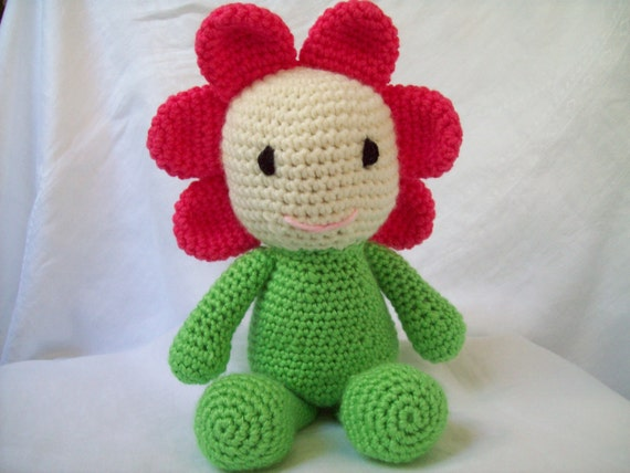 Original Crochet Amigurumi Flowers : Crochet Flower Child Doll Childrens Doll Crochet Amigurumi