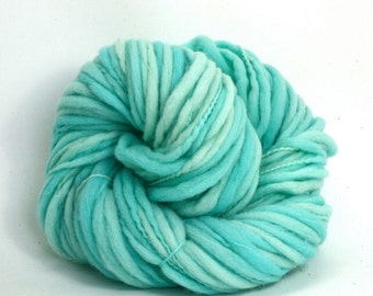 Titan - Hand Dyed Thick & Thin Merino Wool Bulky Chunky Yarn - Colorway: Glacier
