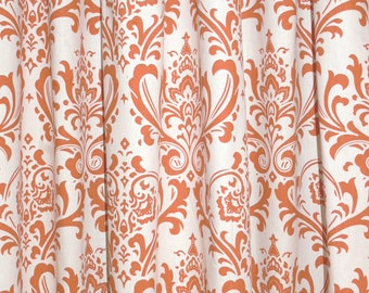 "CUSTOM CURTAINS - A pair of Custom Drapes Tradition Sweet Potato/Natural 24"" wide X up to 96"" Long"