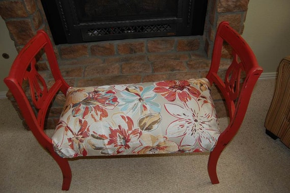 Items Similar To Repurposed Upcycled Red Harp Vintage