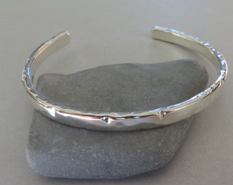 Sterling Silver Cuff Bracelet Handmade bracelet carved bracelet Hammered  Bracelet heavy Silver Cuff Bangle Cuff Silver cuff bracelet