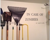 Custom In Case of Zombies Wall Decal - Vinyl Lettering - Fun Decal - Vinyl Decal - Your choice of Font and Color