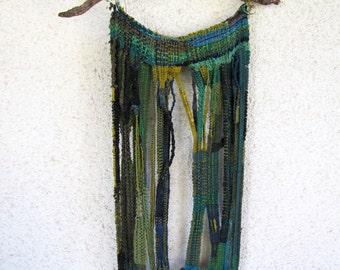 Hand made fiber art wall hanging