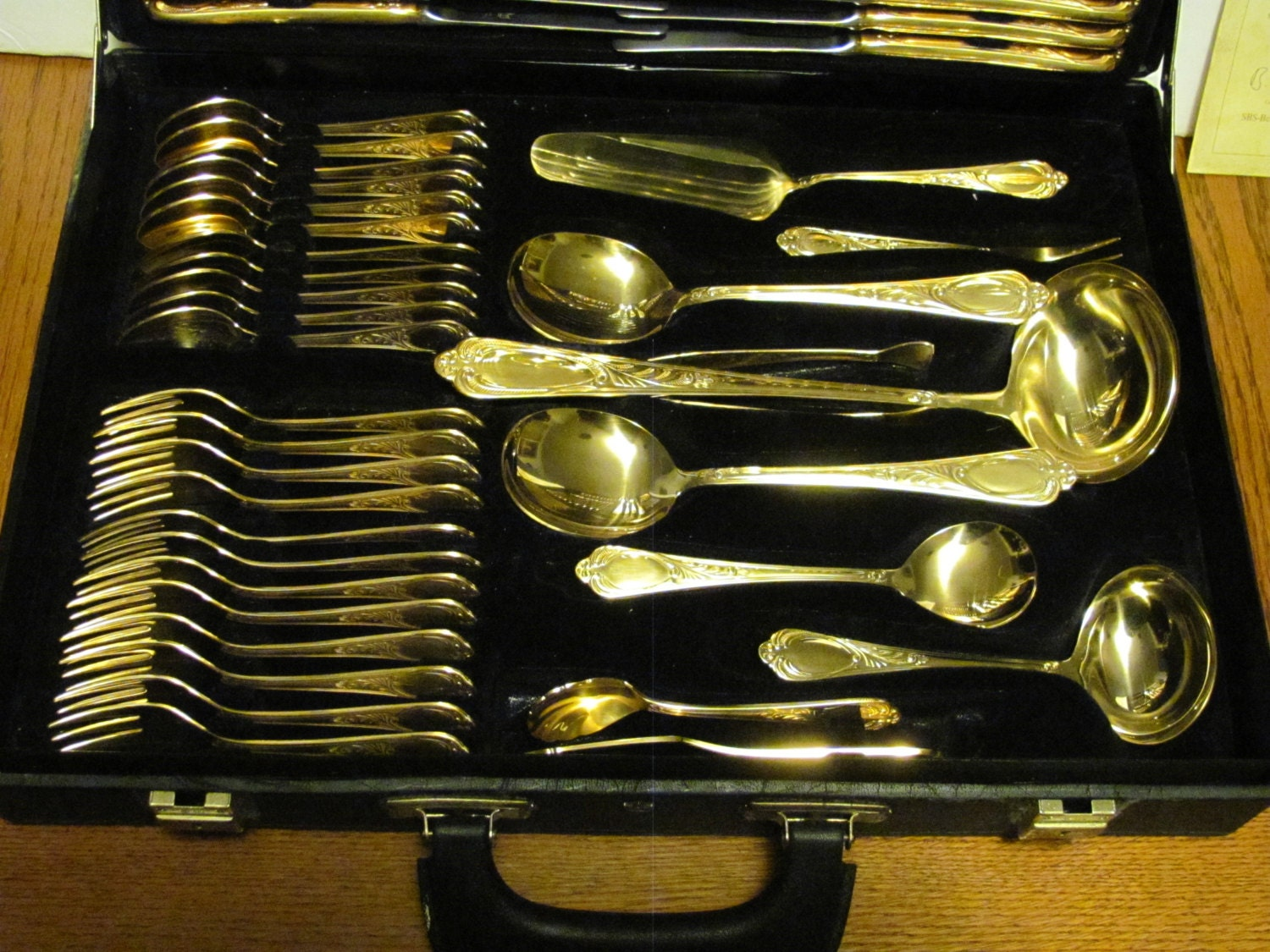 Bestecke Solingen Sbs W Germany Wien 70 Pc Gold Flatware Set