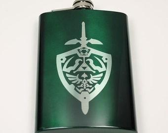 Legend of Zelda 8 oz Hylian Shield Flask