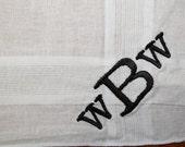 Men's Custom Monogrammed Handkerchief