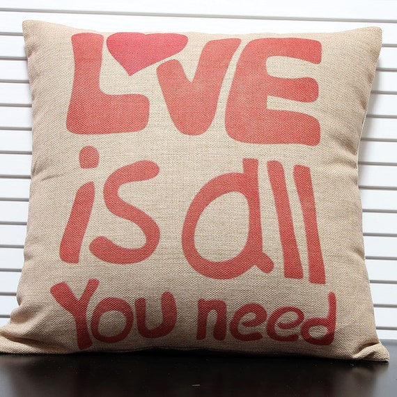 Decorative Pillow Case Proverbs & words by Sharinghappiness