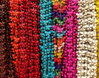 15x20mm butterfly howlite beads