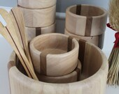 Gorgeous wooden bowl set of 10,  by Arabia Design Finland