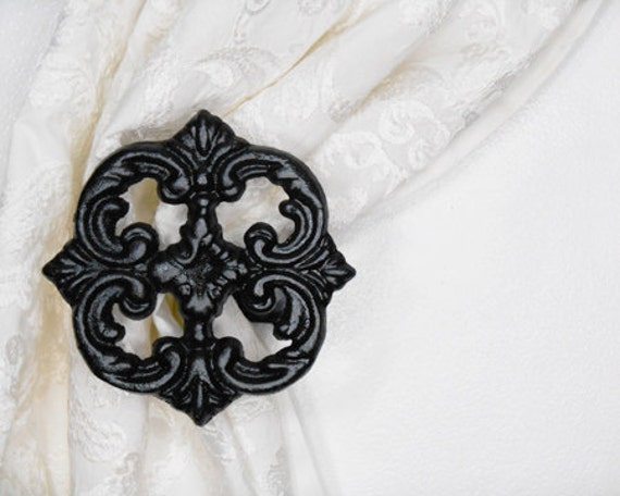 Two Metal Curtain Tie Backs Curtain By Acreativecottage