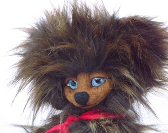 Valez, 30cm Faux fur, collectors Teddy bear, with needlefelted face and paws