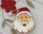 Vintage Christmas Brooch - Santa Brooch