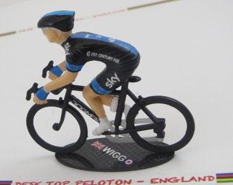 Bradley Wiggins Tour De France - Team Sky 2014 - Individually Handcrafted Peloton Cycling Figure