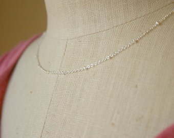 Silver satellite necklace / Silver layering necklace / Simple necklaces / Satellite layering necklace