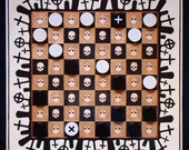 """FREE SHIPPING The checkers game - The board game """"Ancient tombs"""""""