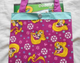 Tangled Rapunzel Tote Bag Trick or Treat Bag Easter Basket