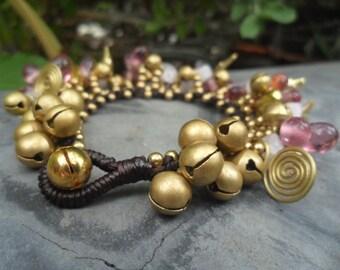 Luxurious Pink  Glass Bead Bracelet