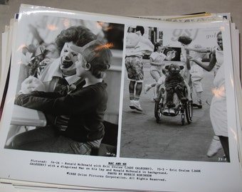 8x10 Press Photo ronald mcdonald mac and me