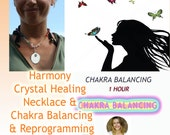 Crystal Necklace, Chakra Balancing + Reprogramming Deep Therapy 1 Hour with Jelila