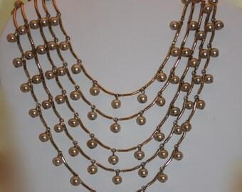 Vintage necklace faux pearl