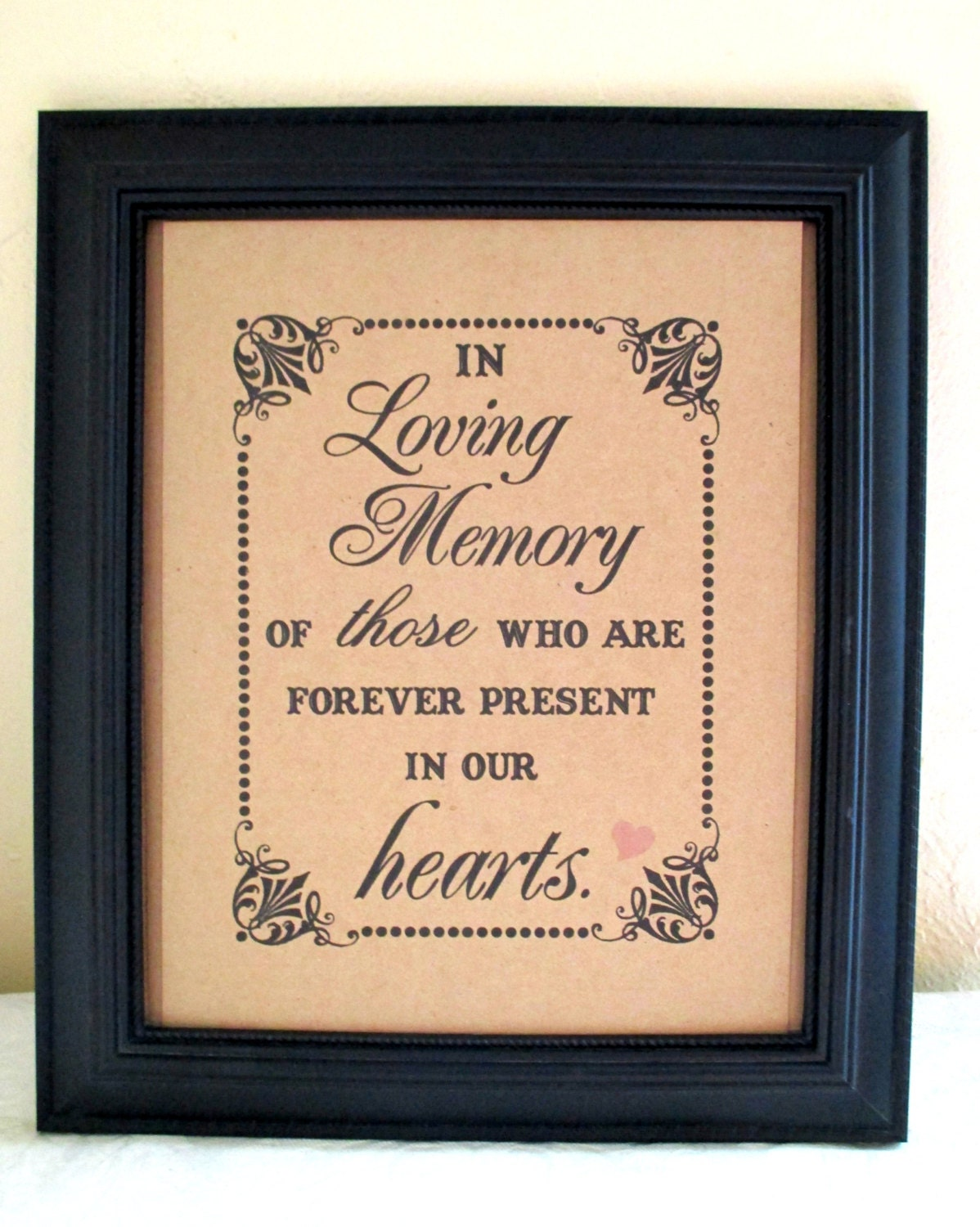 8 X 10 Print Loved Ones Remembrance In Loving Memory Of