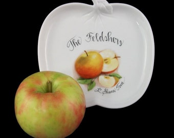 Personalized Hand Painted Rosh Hashana Apple Plate