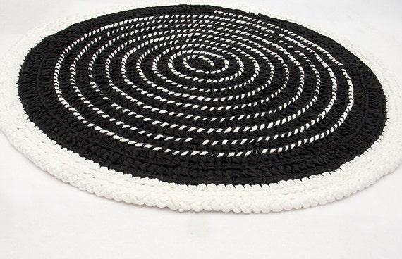 Runder Teppich Boden häkeln T Shirt Garn Spirale mit von