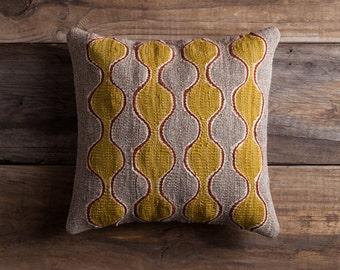 Gray Kilim Pillow - Handwoven Wool Sham Brooklyn Designed Turkish Made