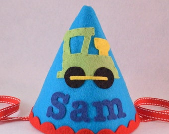 Train Party Hat, Birthday Hat, Thomas the Train, First Birthday, Boy, Personalized