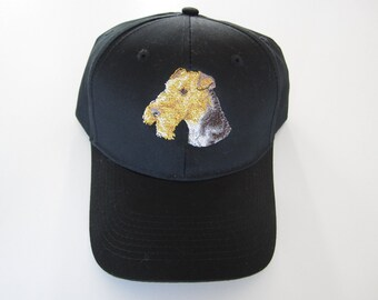 Airedale embroidered cap