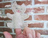 kids toy -- cat finger puppet -- felt toy - Fuzzlemania