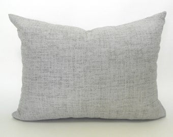 Outdoor Lumbar Pillow Covers Decorative Pillow Cover Solid Gray Pillow Robert Allen Weavescene Gray