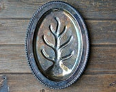 Vintage Tree of Life Silver Tray
