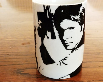 Harrison Ford - Han Solo - Hand Printed Cup