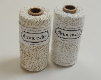 METALLIC Duo - Silver & Gold Divine Twine - 2 Full Spools -