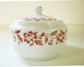 Shenango China - Denim Rose - Sugar Bowl With Lid -  From a Diner, Drive-in, Truckstop or Cafe - great roadtrip nostalgia