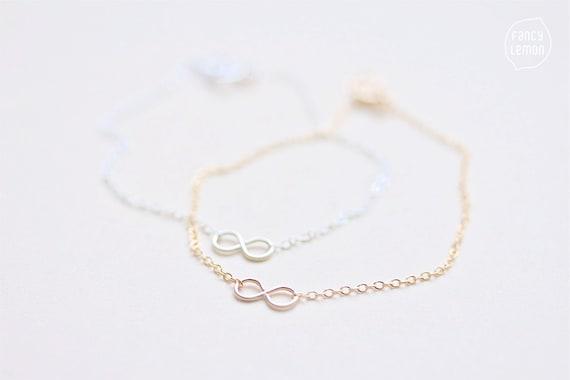 SALE tiny infinity bracelet