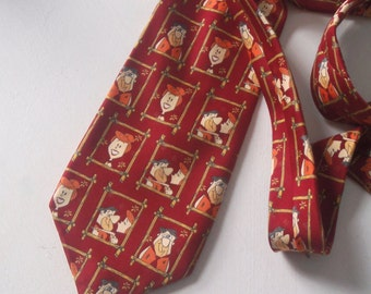 Flintstones Vintage 80s Men's Neck Tie retro fashion