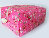 Toiletry Bag Pink Flowers