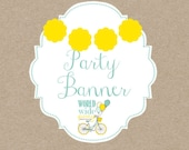 Happy birthday Banner with NAME - party of your choice - printable file