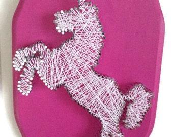 Unicorn string art for String art patterns animals