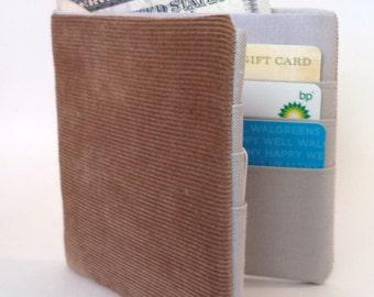 Corduroy wallet