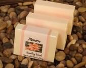 Plumeria handmade natural soap with the beautiful scent of Hawaii. Vegan