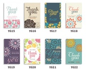 Floral Thank You Tag for Wedding Favor Bridal Shower Gift Birthday Party and Baby Shower